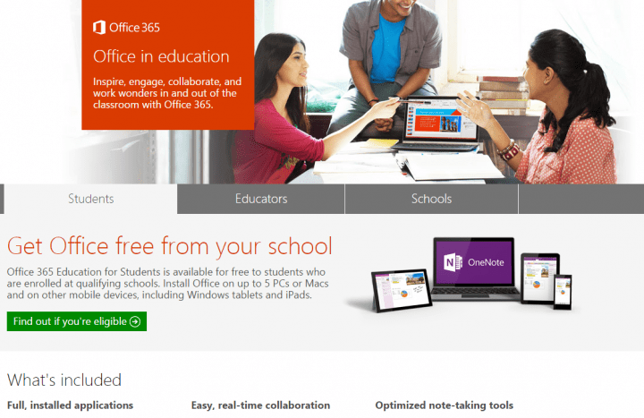 Office 365 será gratis para universitarios