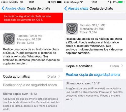 Imagen - WhatsApp para iOS ya permite hacer copias de seguridad en iCloud