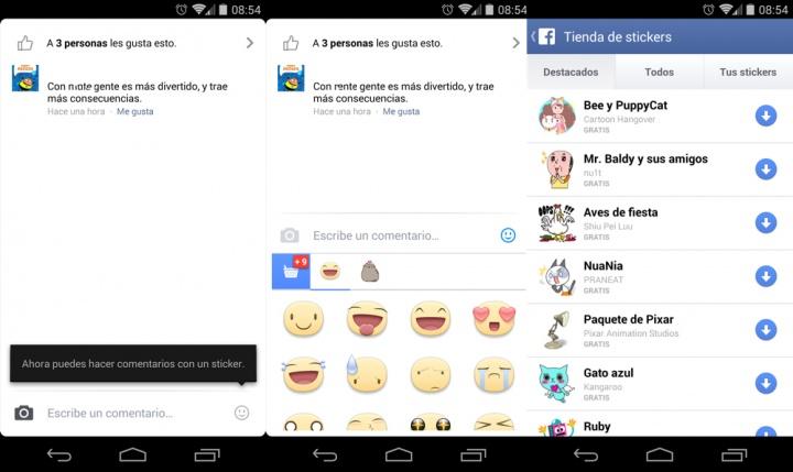 Imagen - Facebook ya permite usar stickers en los comentarios
