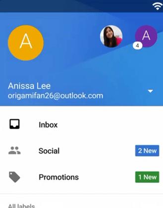 Imagen - La app de Gmail para Android unficará el correo de todas las cuentas