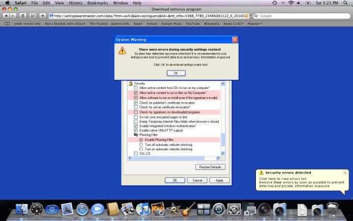 La probabilidad de que el malware infecte un Mac es del 3%