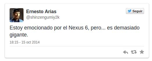 Imagen - Nexus 6 no gusta en Twitter: el precio rompe la esencia de Google