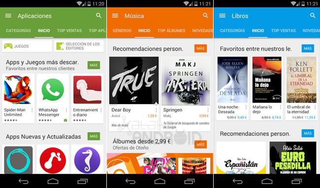 Imagen - Google Play Store se actualiza al diseño de Android L
