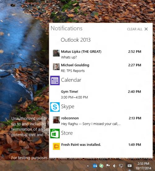Imagen - Windows 10 se actualiza con centro de notificaciones