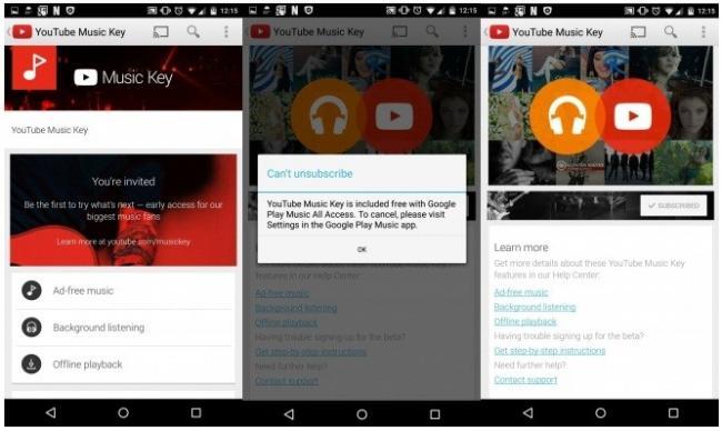 Imagen - Se filtra YouTube Music Key: lanzamiento inminente