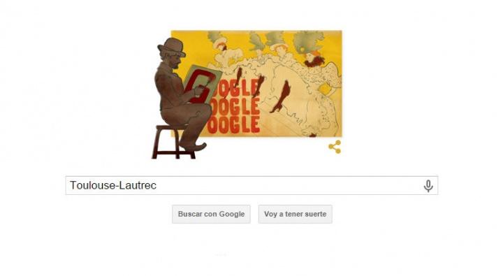 Google rinde homenaje a Henri de Toulouse-Lautrec en un Doodle