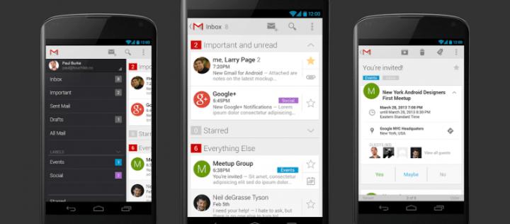 Imagen - Gmail 5.0 ya está disponible: soporte multicuenta con Material Design