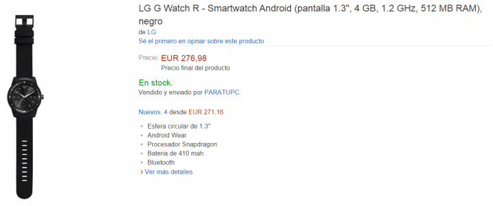 Imagen - LG G Watch R ya a la venta en España