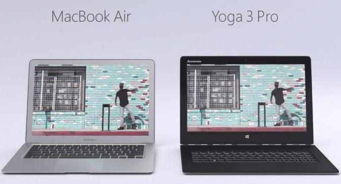 Imagen - Lenovo ridiculiza al Mac Air en un anuncio comparándolo con el Yoga 3 Pro