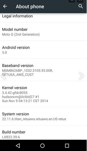 Imagen - Mientras los Nexus esperan, Moto G 2014 empieza a recibir Android 5.0 Lollipop