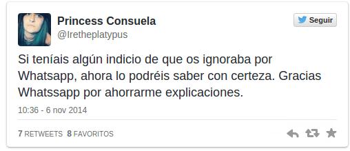 """Imagen - El """"doble check azul"""" de WhatsApp no gusta en las redes sociales"""