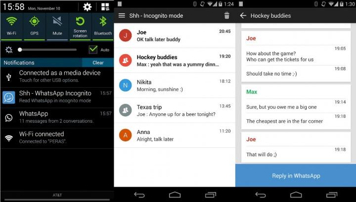 "Imagen - Shh, la app que oculta el ""doble check azul"" de WhatsApp"