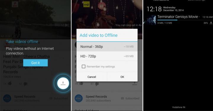 Imagen - YouTube ya permite reproducir vídeos offline