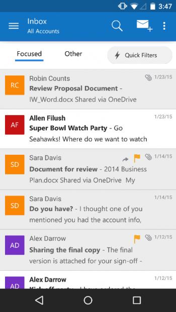 Imagen - Outlook para iOS y Android ahora soporta Gmail, iCloud y Yahoo Mail
