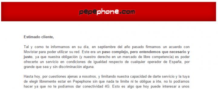Imagen - Pepephone ya tiene cobertura de Movistar con 4G
