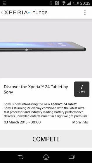 Imagen - Sony Xperia Z4 Tablet llegaría en el MWC
