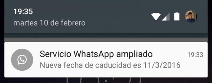 Imagen - Servicio WhatsApp ampliado: WhatsApp renueva hasta 2016