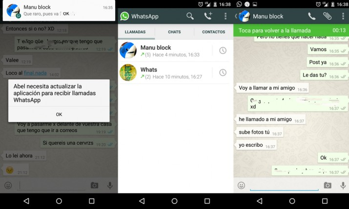 Imagen - WhatsApp otra vez permite activar las llamadas VoIP