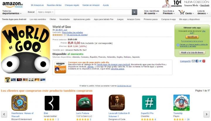 Imagen - Consigue 100 euros gratis en apps gracias a Amazon