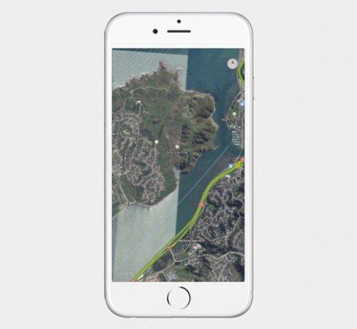 Imagen - Google Maps para iPhone se actualiza con mapas a pantalla completa