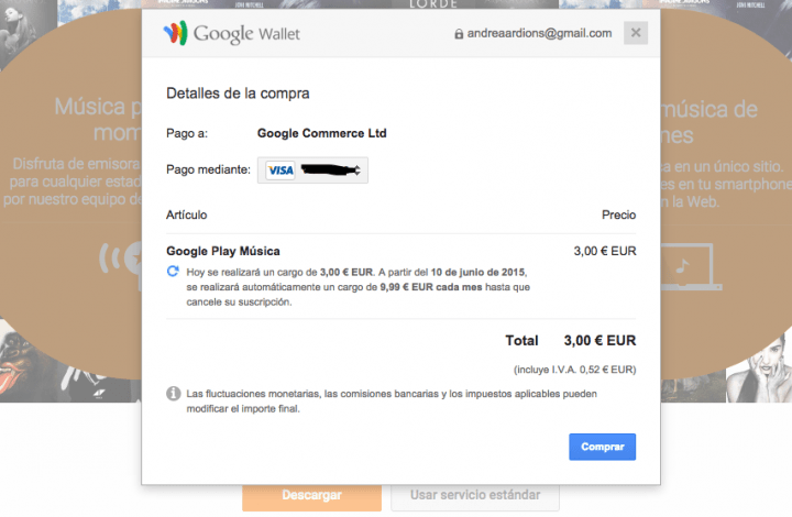 Imagen - Consigue tres meses de Google Play Music y YouTube Music Key por 3 euros