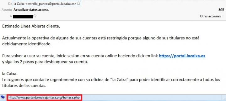 Imagen - Intentan engañar a usuarios de La Caixa con webs falsas