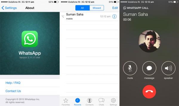 Imagen - Las llamadas de WhatsApp para iOS ya disponibles en beta