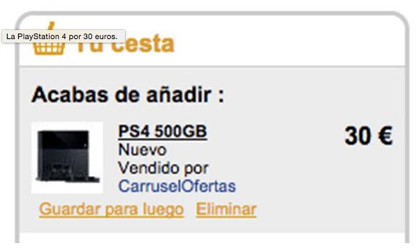 Imagen - ¿Playstation 4 y otros caros productos solo por 30 euros en Fnac?