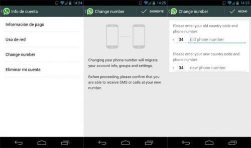 Imagen - WhatsApp para Android ya permite cambiar el número de teléfono