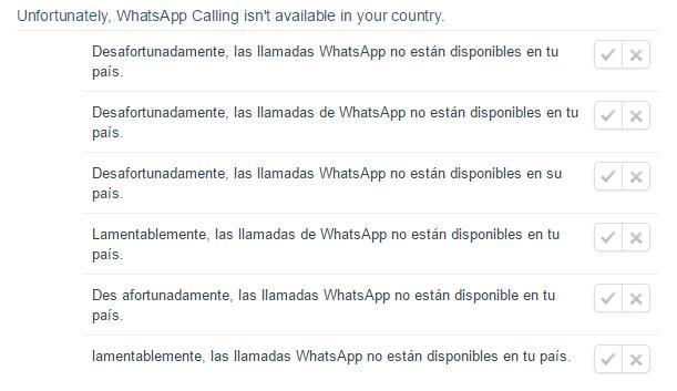 Imagen - Las llamadas de WhatsApp no estarán disponible en todos los países
