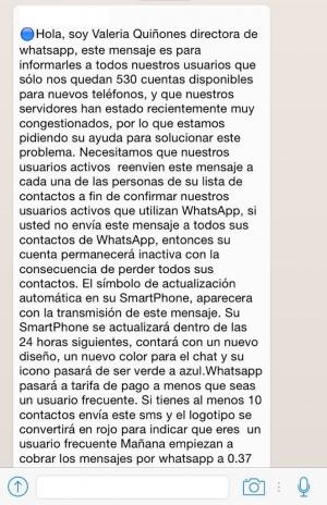 Imagen - Nueva cadena: WhatsApp cobrará por mensaje