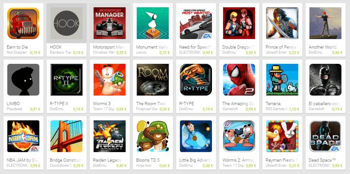 Imagen - Google Play ofrece 24 juegos para Android por menos de 1 euro cada uno