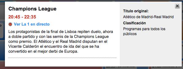 Imagen - Cómo ver el Atlético de Madrid vs Real Madrid de Champions online