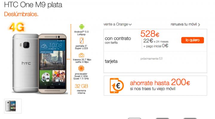 Imagen - Precios del HTC One M9 con Orange