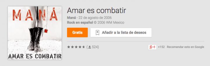 Imagen - Descarga gratis la discografía de Maná desde Google Play