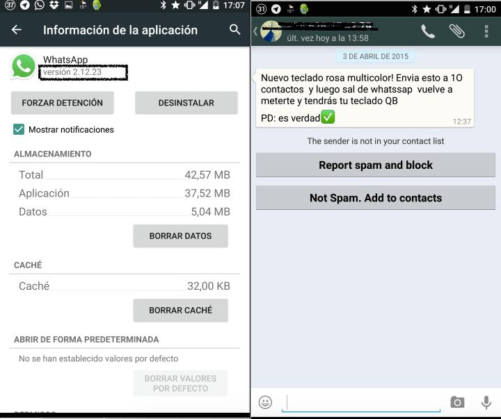 WhatsApp ya permite reportar mensajes de desconocidos