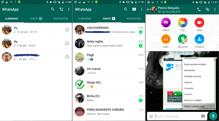 Imagen - Descarga WhatsApp actualizado con aspecto Material Design