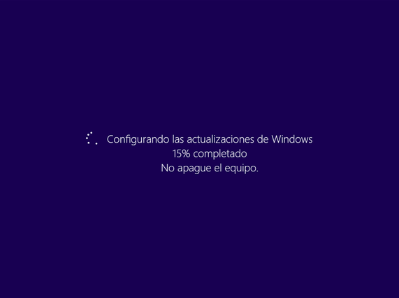 """Imagen - Windows se queda en """"Configurando las actualizaciones"""" tras una actualización errónea"""