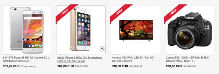 Imagen - Superweekend en eBay: descuentos de hasta el 60%