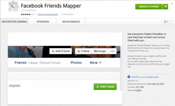 Imagen - Facebook Friends Mapper, espía listas de amigos ocultas