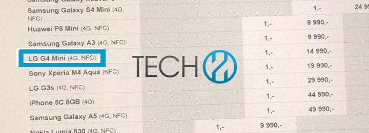 Imagen - LG prepara el LG G4 Mini, el hermano pequeño del smartphone estrella