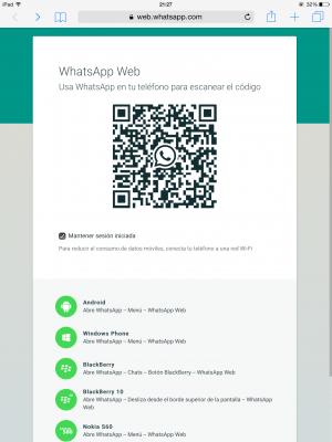 Imagen - Cómo utilizar WhatsApp Web en el iPad