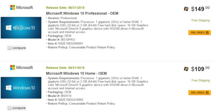 Imagen - Windows 10: precio y disponibilidad desvelados