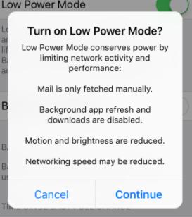 Imagen - Activar el modo bajo consumo en iOS 9
