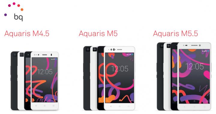 Los nuevos bq Aquaris M5.5, Aquaris M5 y Aquaris M4.5 ya están aquí