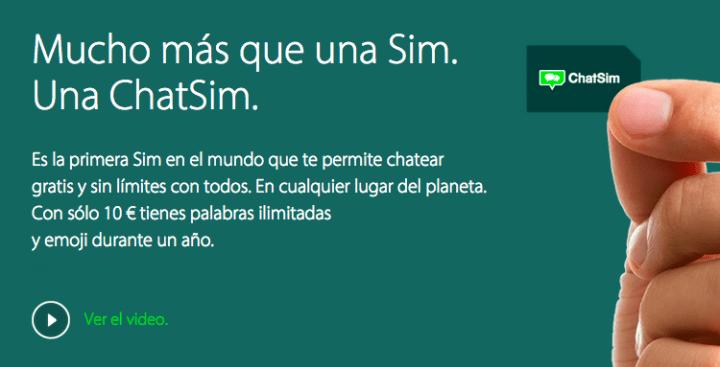 Imagen - Compra ChatSim en España, la tarjeta SIM para WhatsApp