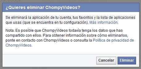Imagen - Elimina los vídeos compartidos automáticamente por ChompyVideos