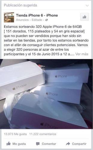 Imagen - Un sorteo de 320 iPhones en Facebook: estafa viral