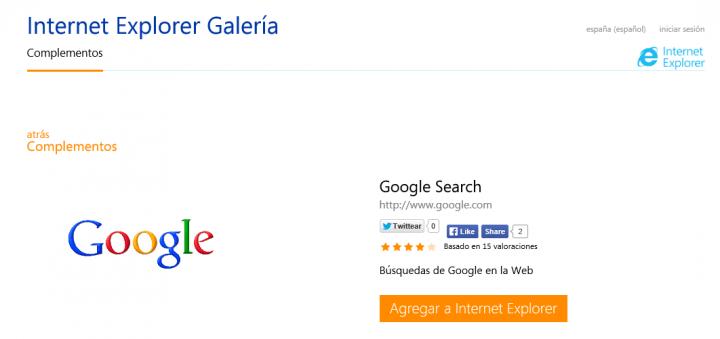Imagen - Añadir Google como proveedor de búsqueda en Internet Explorer