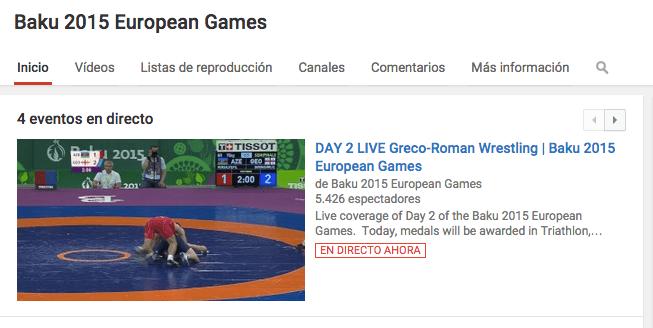 Imagen - Cómo ver los Juegos Europeos por Internet